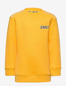 D1. GANT SPORT C-NECK SWEAT - sweatshirts - solar power yellow