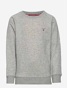 D1. THE ORIGINAL C-NECK SWEAT - svetarit - light grey melange