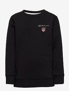 D1. MEDIUM SHIELD SWEAT C-NECK - sweatshirts - black
