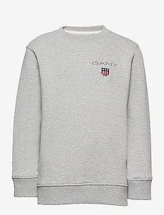 D1. MEDIUM SHIELD SWEAT C-NECK - svetarit - light grey melange