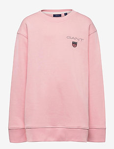 D1. MEDIUM SHIELD SWEAT C-NECK - sweatshirts - preppy pink