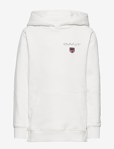 D1. MEDIUM SHIELD SWEAT HOODIE - huvtröja - eggshell