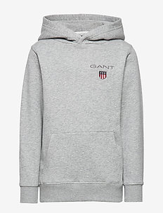 D1. MEDIUM SHIELD SWEAT HOODIE - kapuzenpullover - light grey melange