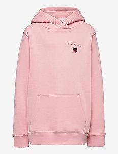 D1. MEDIUM SHIELD SWEAT HOODIE - hoodies - preppy pink
