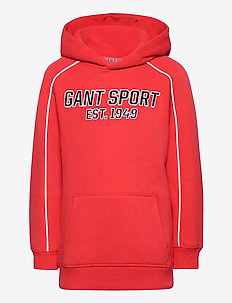 D1. GANT SPORT HOODIE - hupparit - atomic orange