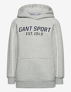 D1. GANT SPORT HOODIE - hupparit - light grey melange