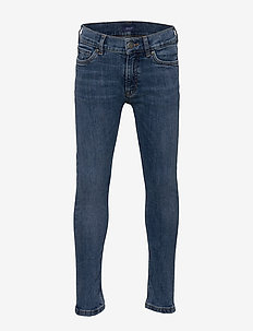 GANT SLIM JEANS - jeans - semi light blue broken in