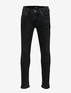 GANT SLIM JEANS - jeans - black raw