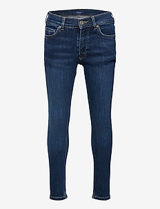 GANT SLIM JEANS - jeans - dark blue worn in