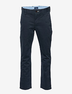 GANT CHINO - pantalons - evening blue