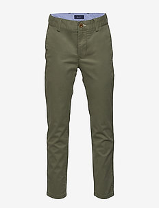 GANT CHINO - trousers - four leaf clover