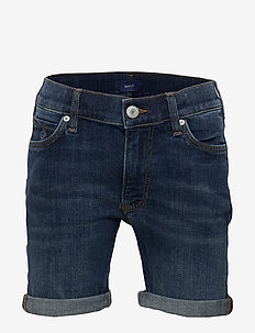 D2. JEANS SHORTS - shorts - mid blue worn in