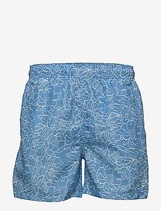 FULL BLOOM OUTLINE SWIM SHORTS C.F. - shorts de bain - lava blue
