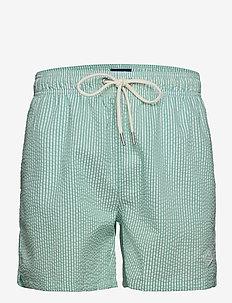 SEERSUCKER SWIM SHORTS CLASSIC FIT - shorts - pool green