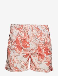WAVE SWIM SHORTS C.F - swim shorts - coral orange