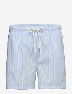 SEERSUCKER SWIM SHORTS CF - shorts - capri blue