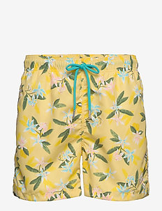 LEMON FLOWERS SWIM SHORTS CF - shorts - sunlight