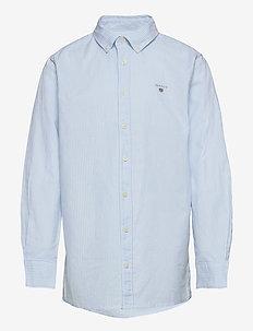ARCHIVE OXFORD STRIPE BD SHIRT - shirts - capri blue