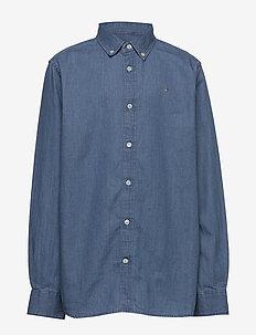 D1. GANT INDIGO SHIRT - skjorter - semi light blue