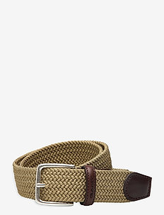 ELASTIC BRAID BELT - flettede belter - dark cactus