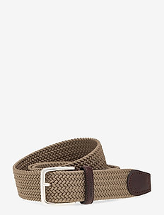 ELASTIC BRAID BELT - flettede belter - dark khaki