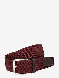D1. ELASTIC BRAID BELT - MAHOGNY RED