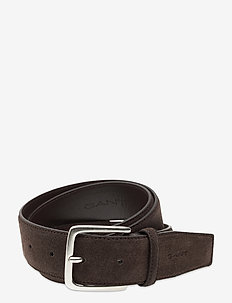CLASSIC SUEDE BELT - belter - dark brown