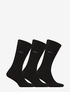 3-PACK MERCERIZED COTTON SOCKS - regular socks - black