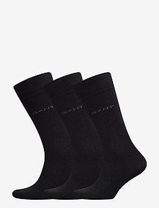3-PACK MERCERIZED COTTON SOCKS - regular socks - charcoal melange