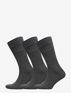 3-PACK SOFT COTTON SOCKS - regular socks - charcoal melange