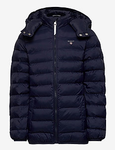 D1. THE LIGHT WEIGHT HOODED PUFFER - EVENING BLUE