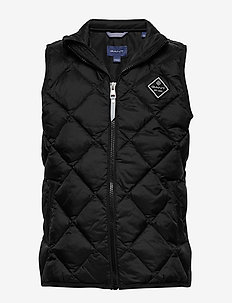 D1. DIAMOND PUFFER VEST - gilets - black