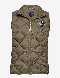 D1. DIAMOND PUFFER VEST - gilets - sea turtle
