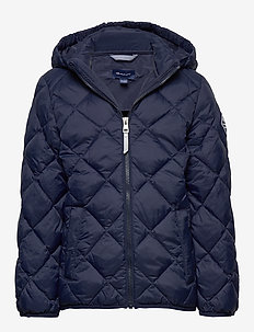 D1. THE LT WEIGHT DIAMOND PUFFER - puffer & padded - evening blue