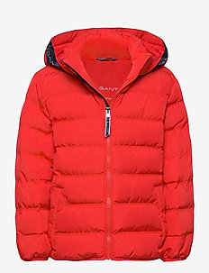 D1. LOCK-UP STRIPE PUFFER JACKET - veste rembourrée - atomic orange