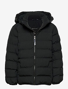 D1. LOCK-UP STRIPE PUFFER JACKET - veste rembourrée - black