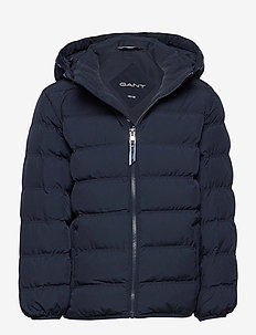 D1. LOCK-UP STRIPE PUFFER JACKET - veste rembourrée - evening blue