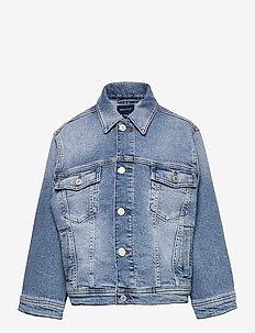 D1. CREST DENIM JACKET - jeansjacken - light blue vintage