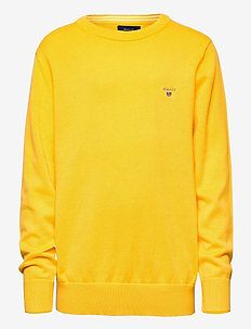 D1.  LT WT COTTON CREW - SOLAR POWER YELLOW