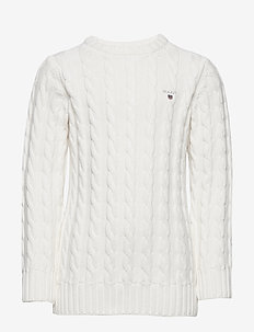 COTTON CABLE CREW - habits tricotés - eggshell