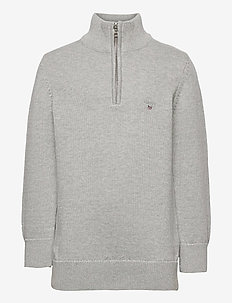 CASUAL COTTON HALF ZIP - habits tricotés - light grey melange