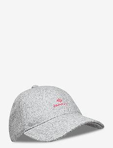 MELTON CAP - caps - dark grey melange