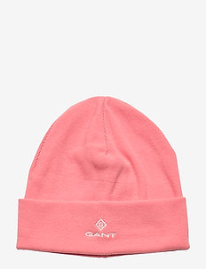 D1. GANT LOCK -UP JERSEY BEANIE - hatut - strawberry pink