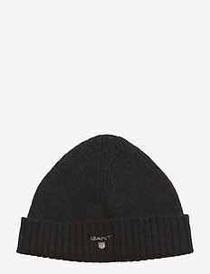 WOOL LINED BEANIE - pipot - black