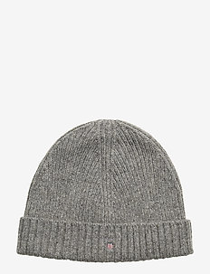 WOOL LINED BEANIE - beanies - dark grey melange