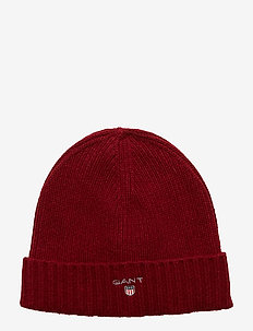 WOOL LINED BEANIE - MAHOGNY RED