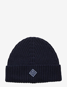 D1. COTTON RIB KNIT HAT - luer - marine