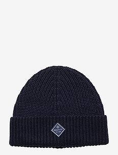 D1. COTTON RIB KNIT HAT - czapka - marine