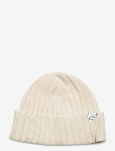 D1. FISHERMANS BEANIE - mössor - cream