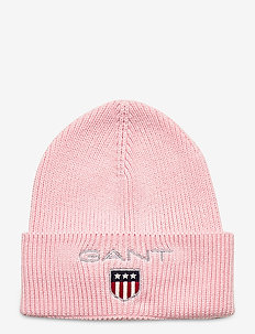 D1. MEDIUM SHIELD RIB BEANIE - huer - preppy pink